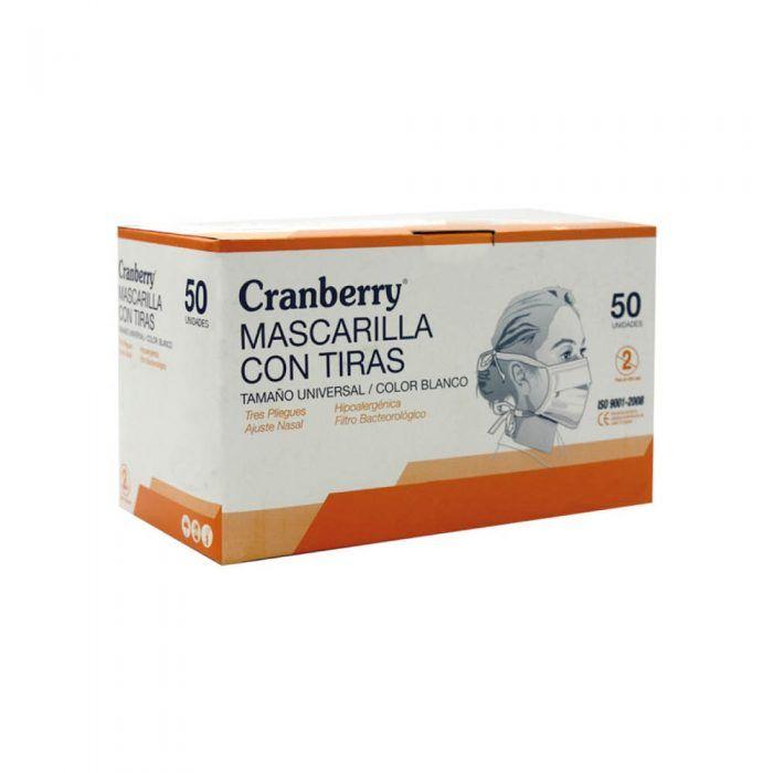 Mascarilla con tiras Cranberry